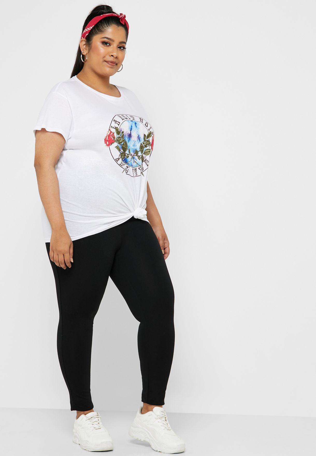 1b3dde21d54d8 Shop New Look Curve black Zip Detail Leggings 358540201 for Women in ...