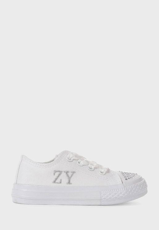حذاء سنيكرز براق