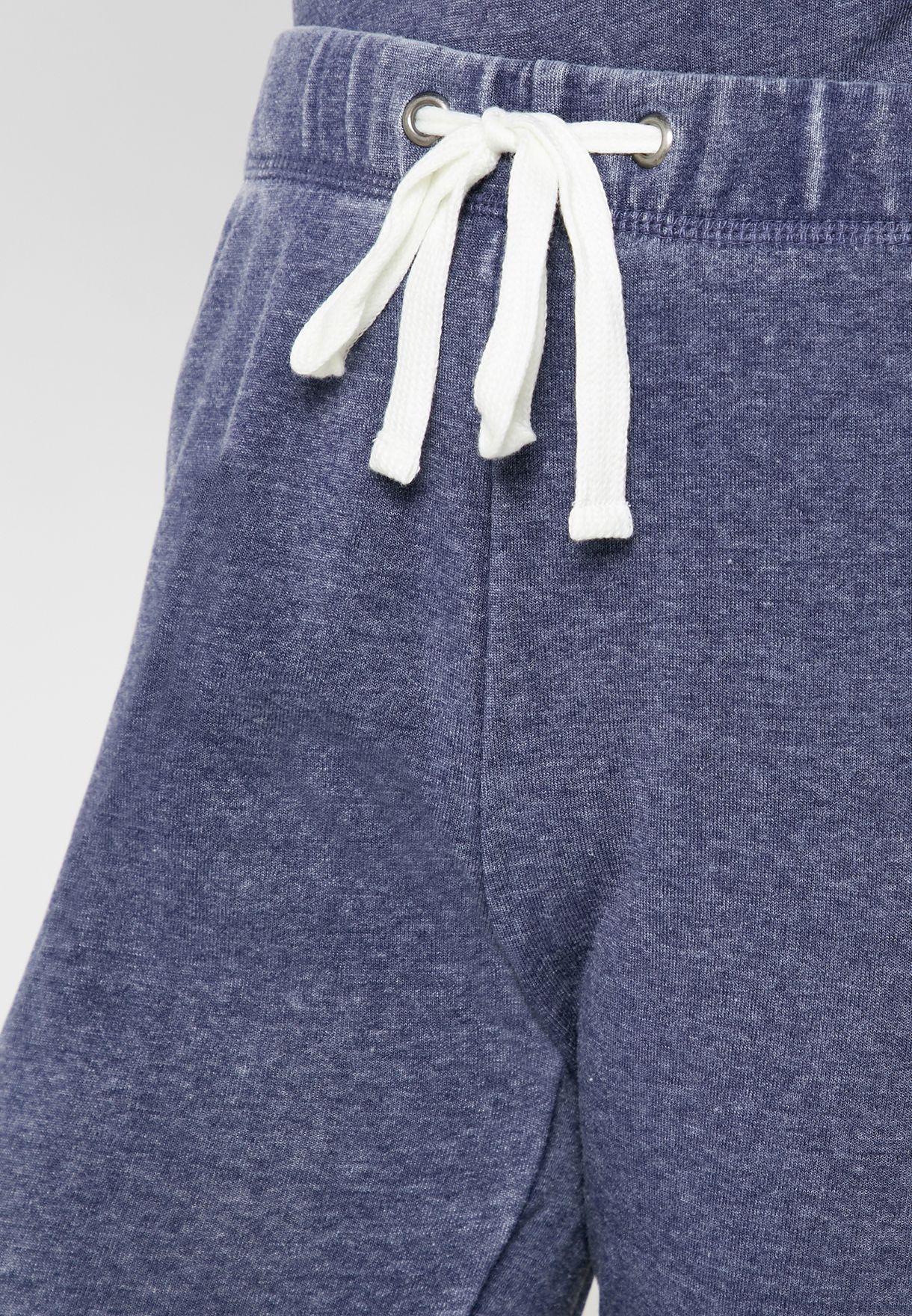 Marled Tie Waist Sweatpants