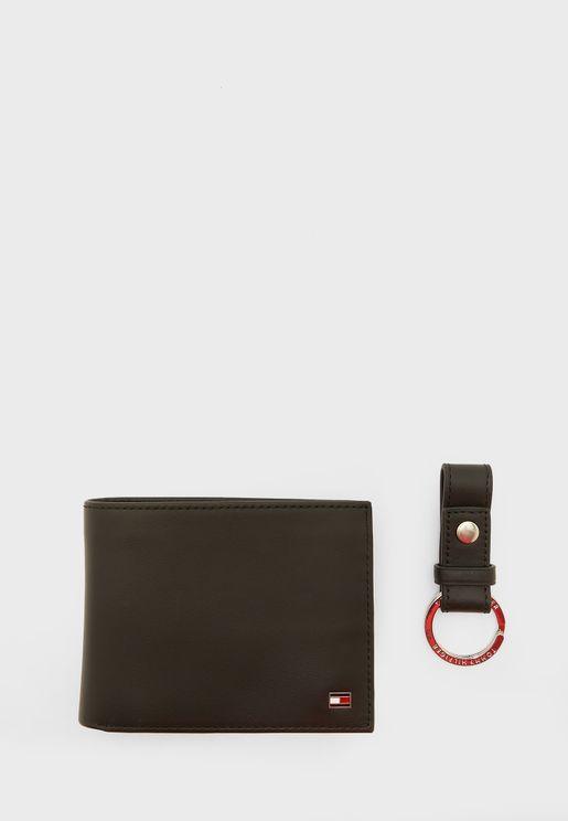 مجموعة هدايا محفظة + حمالة مفاتيح