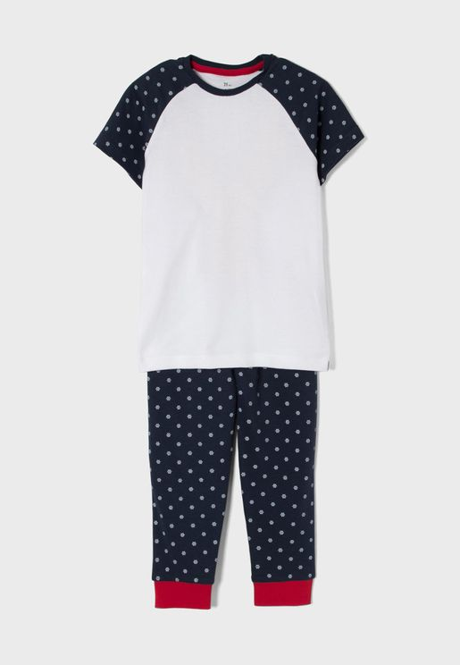Kids Raglan Pyjama Set