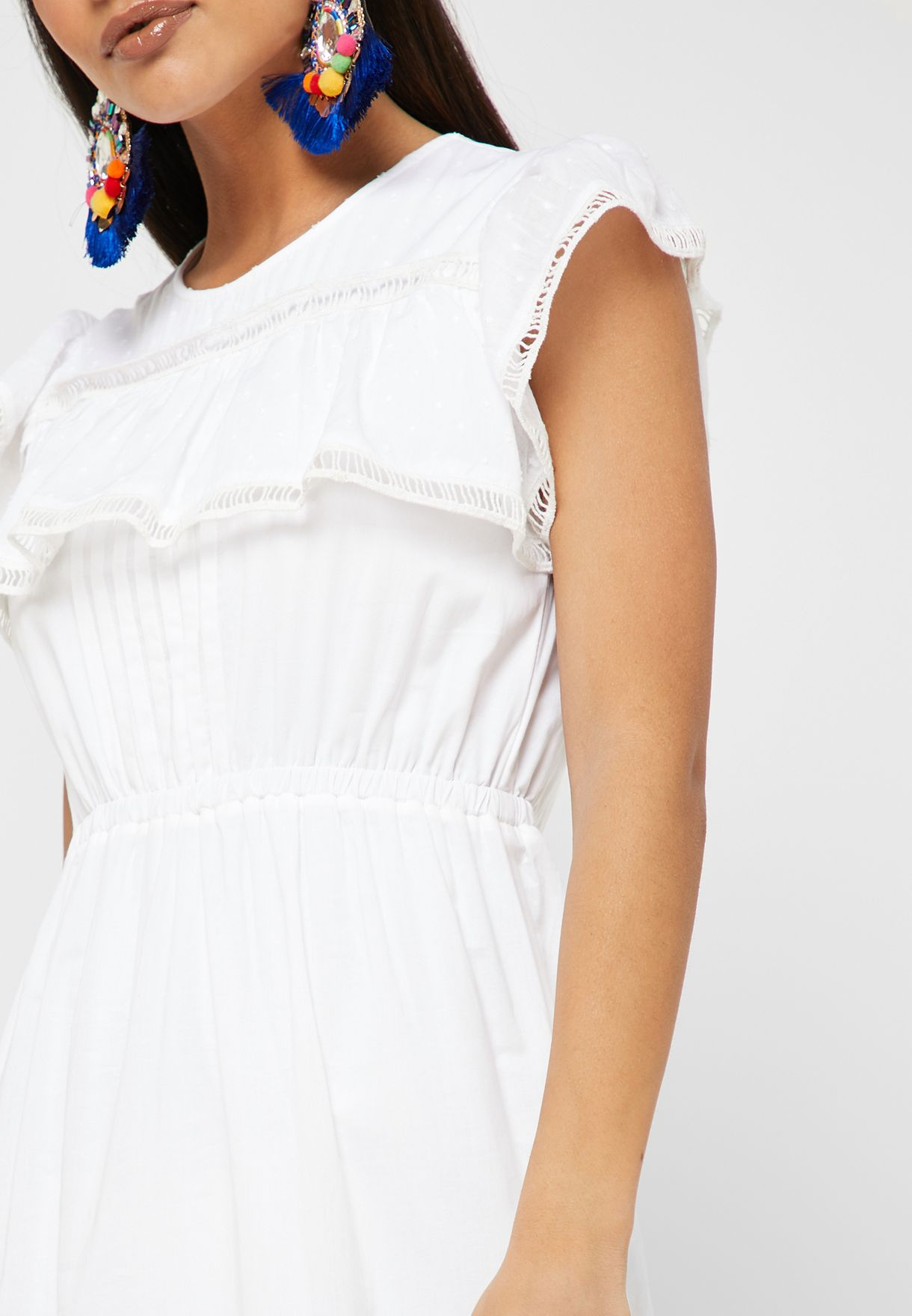 Lace Detail Tiered Dress