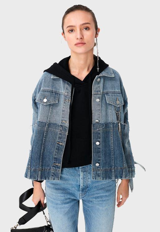 Chain Detail Denim Jacket