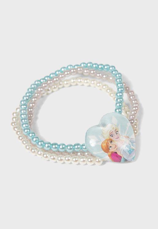 Kids Frozen Sisters Beaded Bracelet