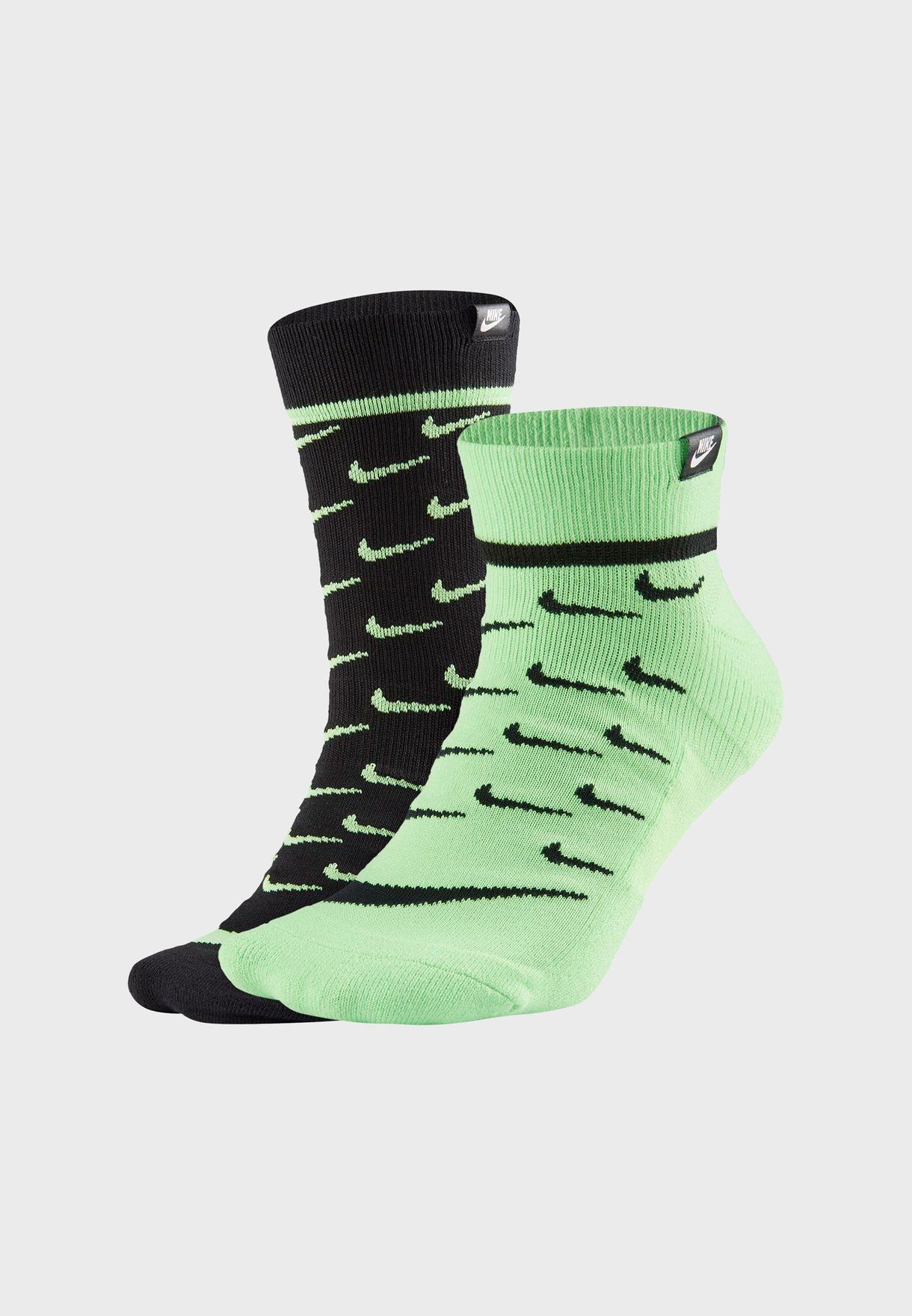 2 Pack Logo Crew Socks