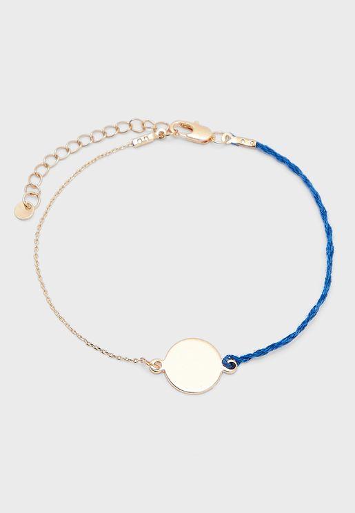 Disc Charm Bracelet
