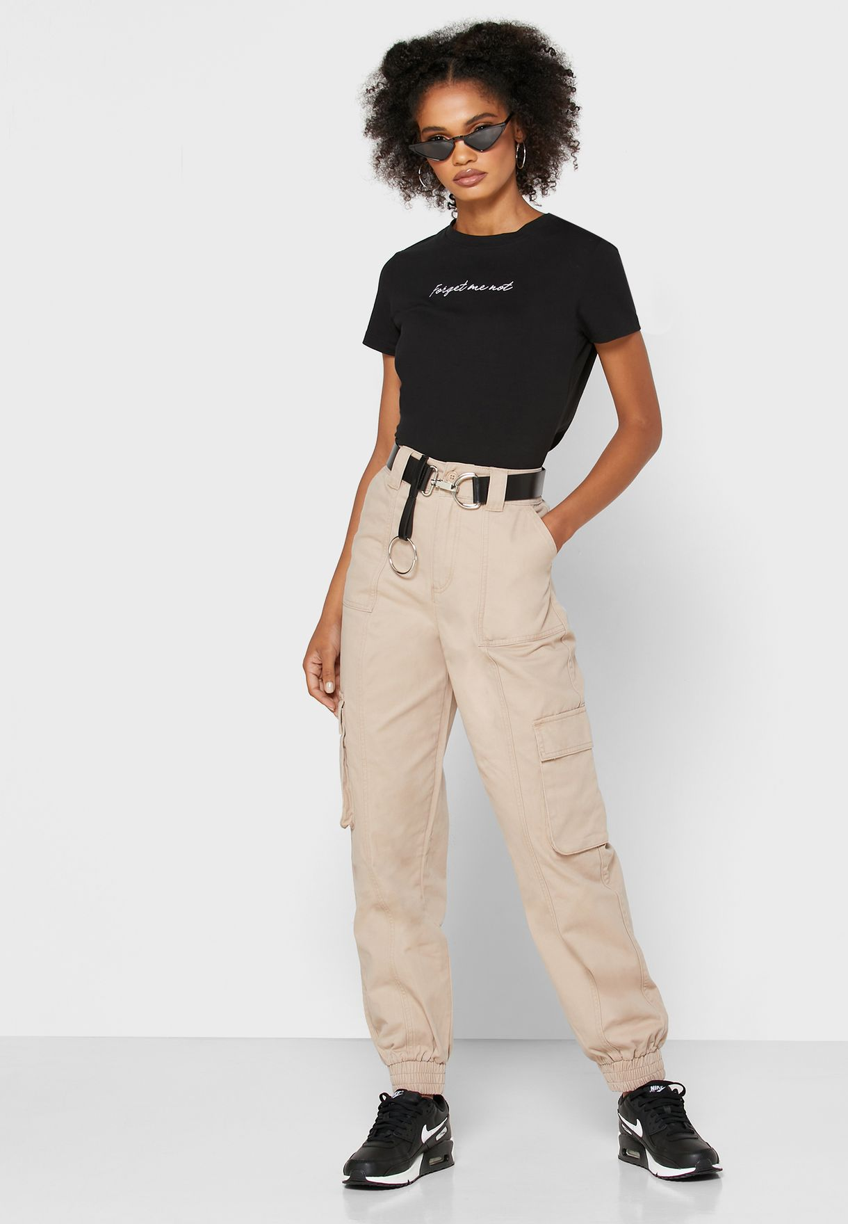 Belted Joggers