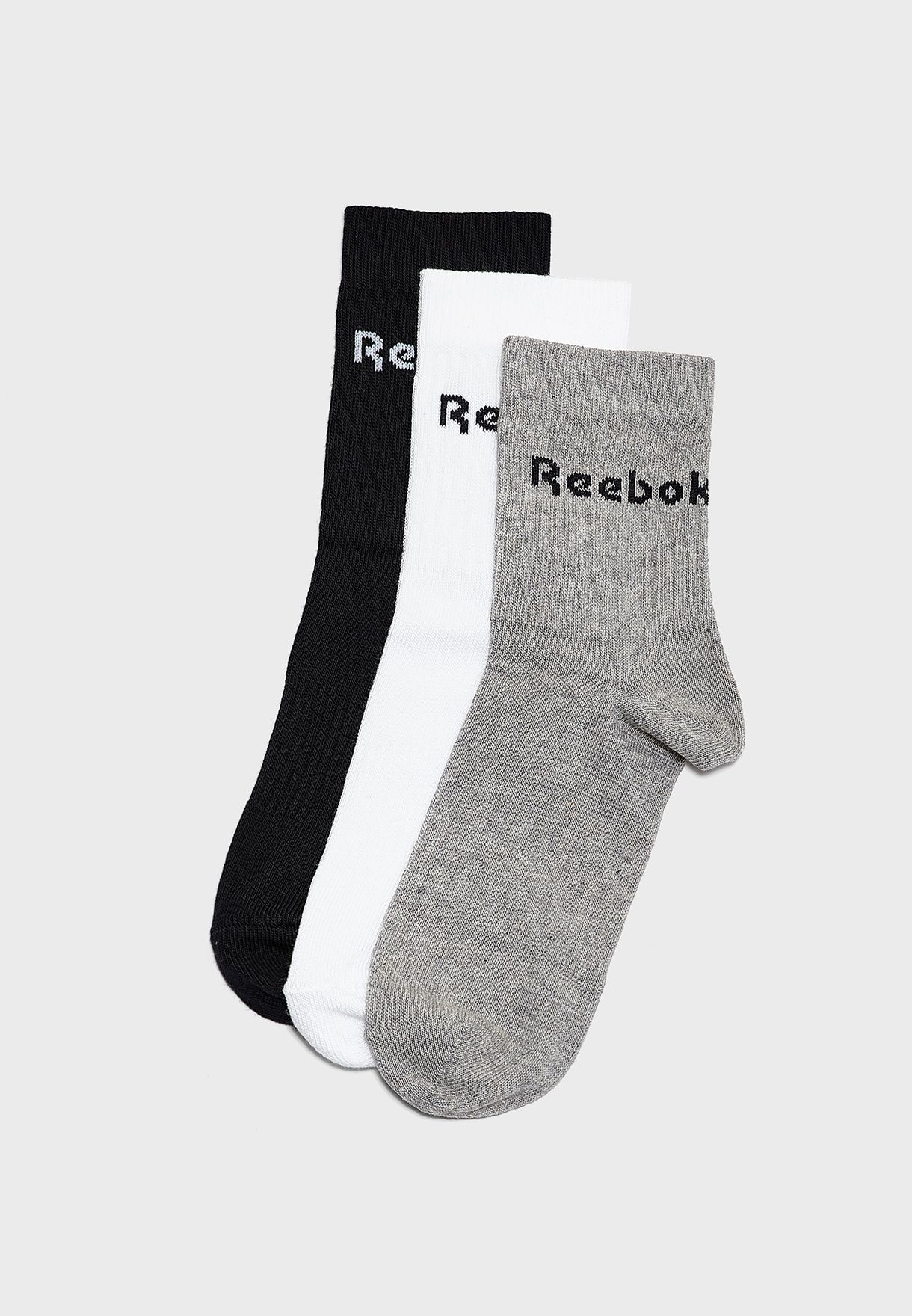 3 Pack Active Core Crew Socks