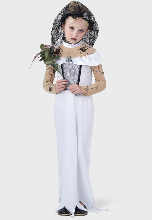 Youth Zombie Bride Child Costume