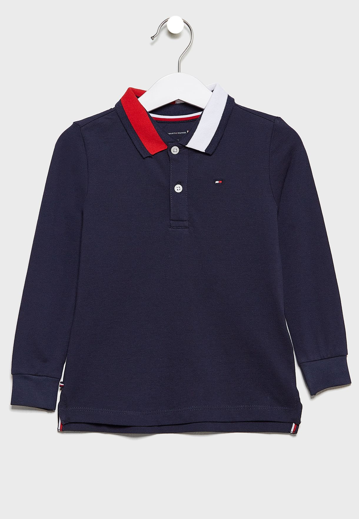 Infant Contrast Collar Polo