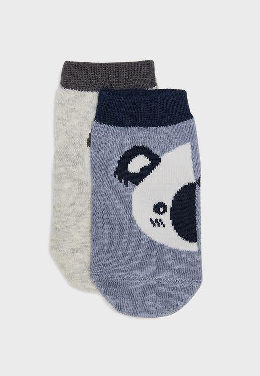 Infant 2 Pack Animal Socks