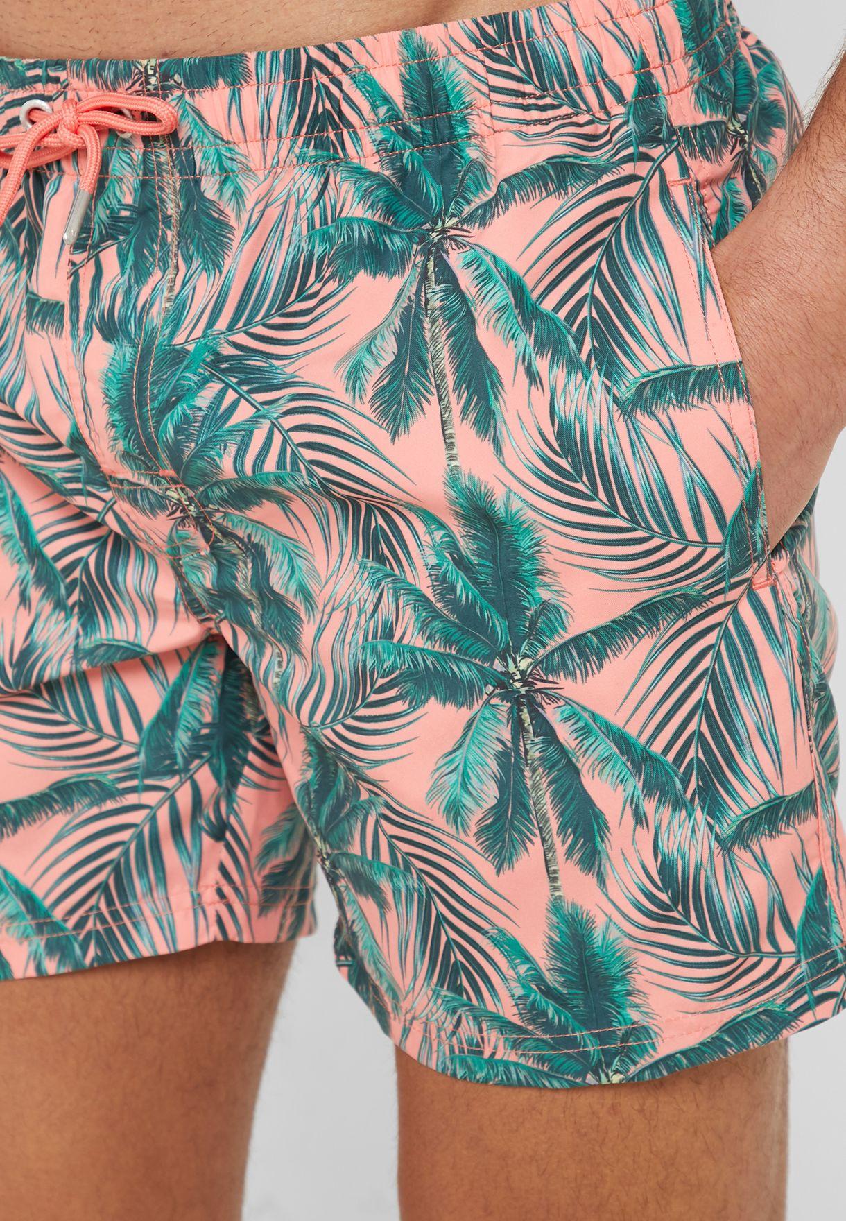 Palm Trees Print Swimsuit