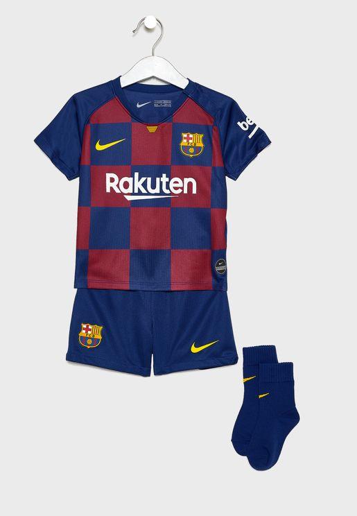Infant FC Barcelona 19/20 Home Set