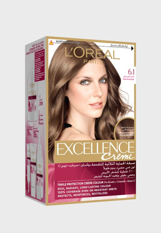 Excellence Crème Permanent Color Dark Ash Blonde