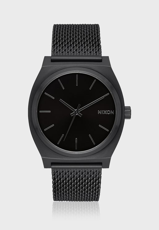 Time Teller Milanese All Black Watch