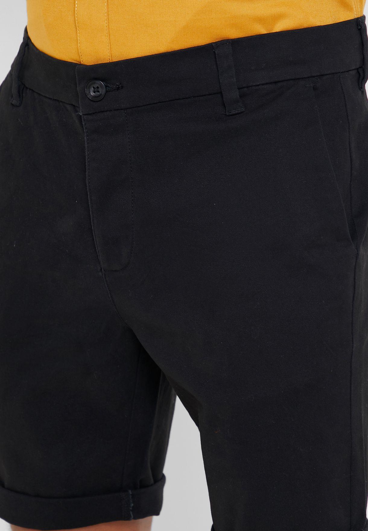 Stretch Skinny Fit Shorts