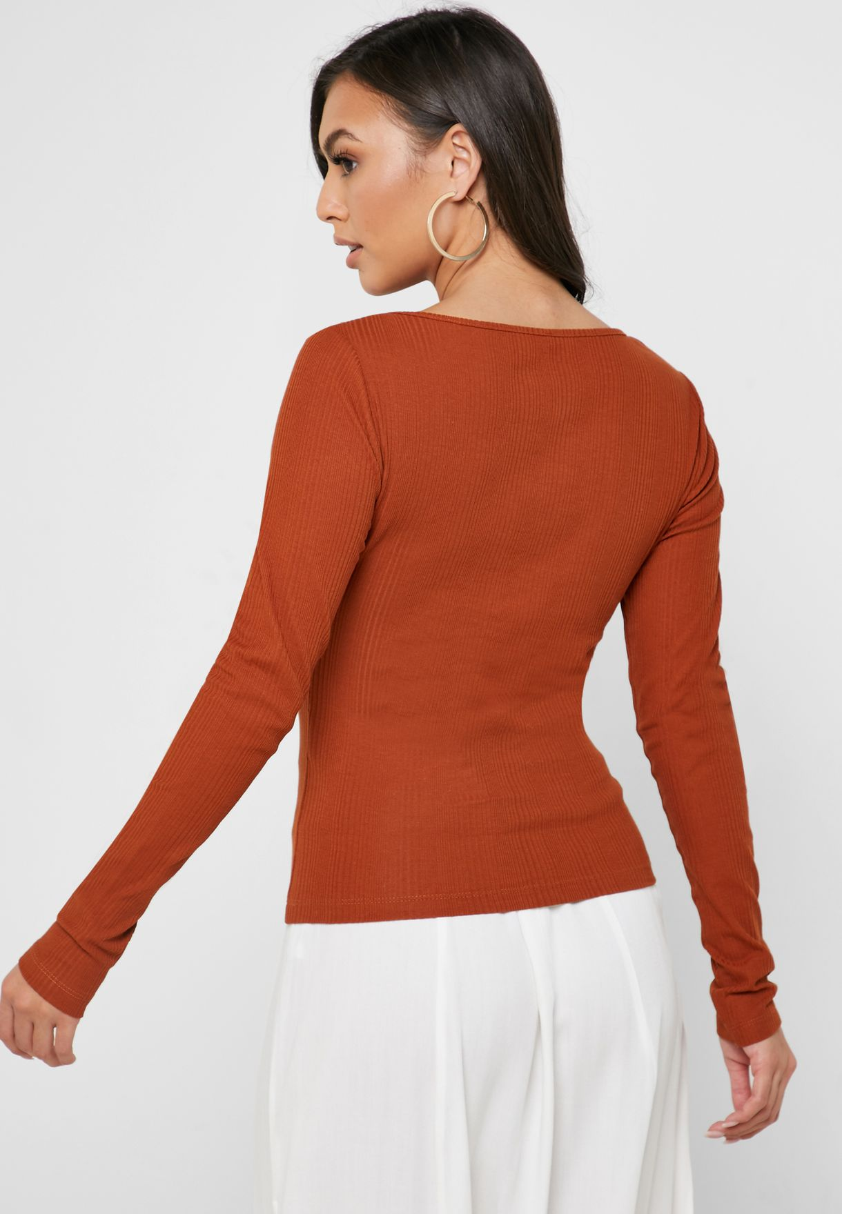 Notch Neck Top