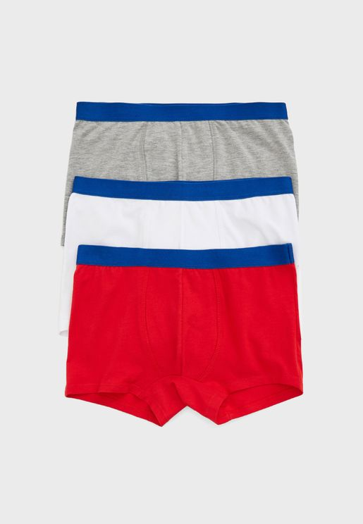 Kids 3 Pack Boxer Shorts