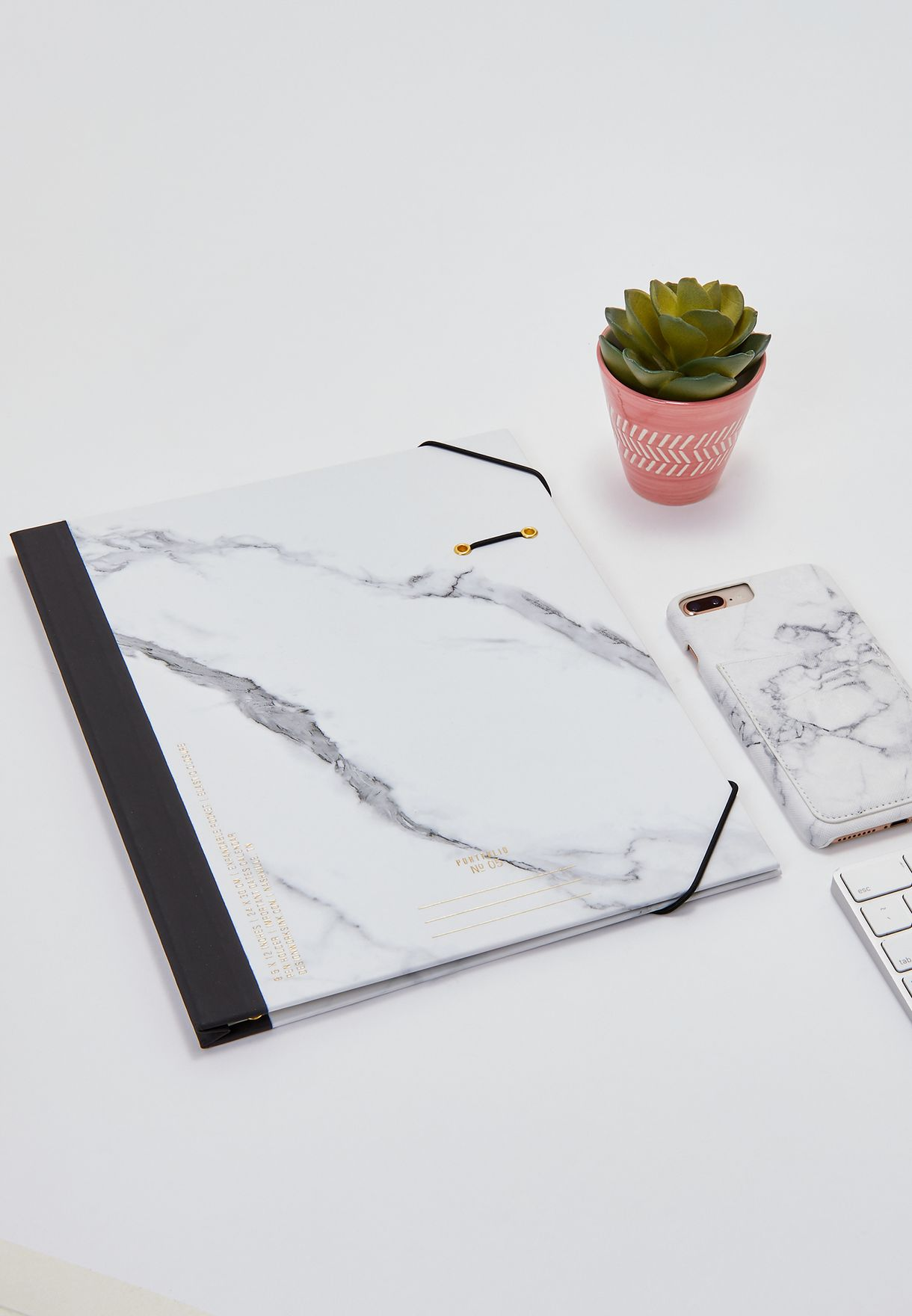 Marble Print Expandable Document Holder