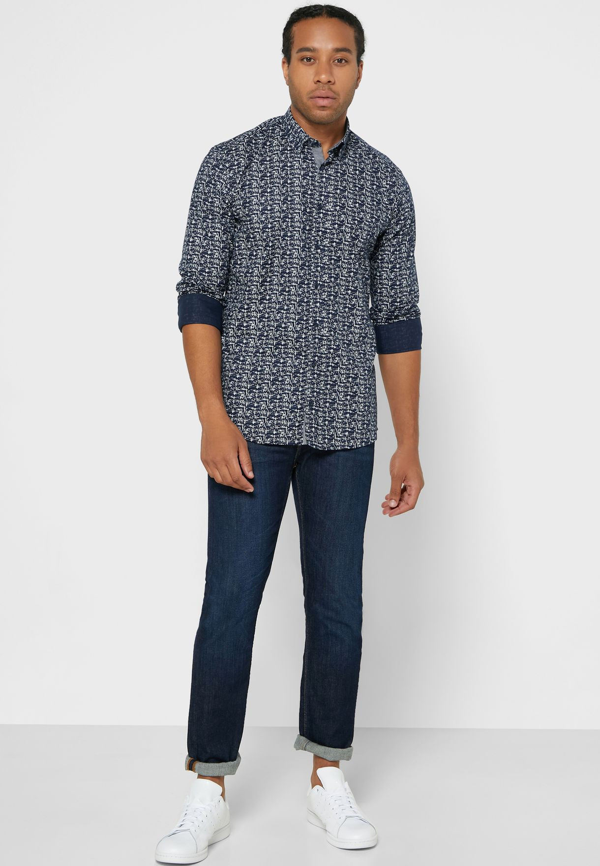Patterned Slim Fit Shirt
