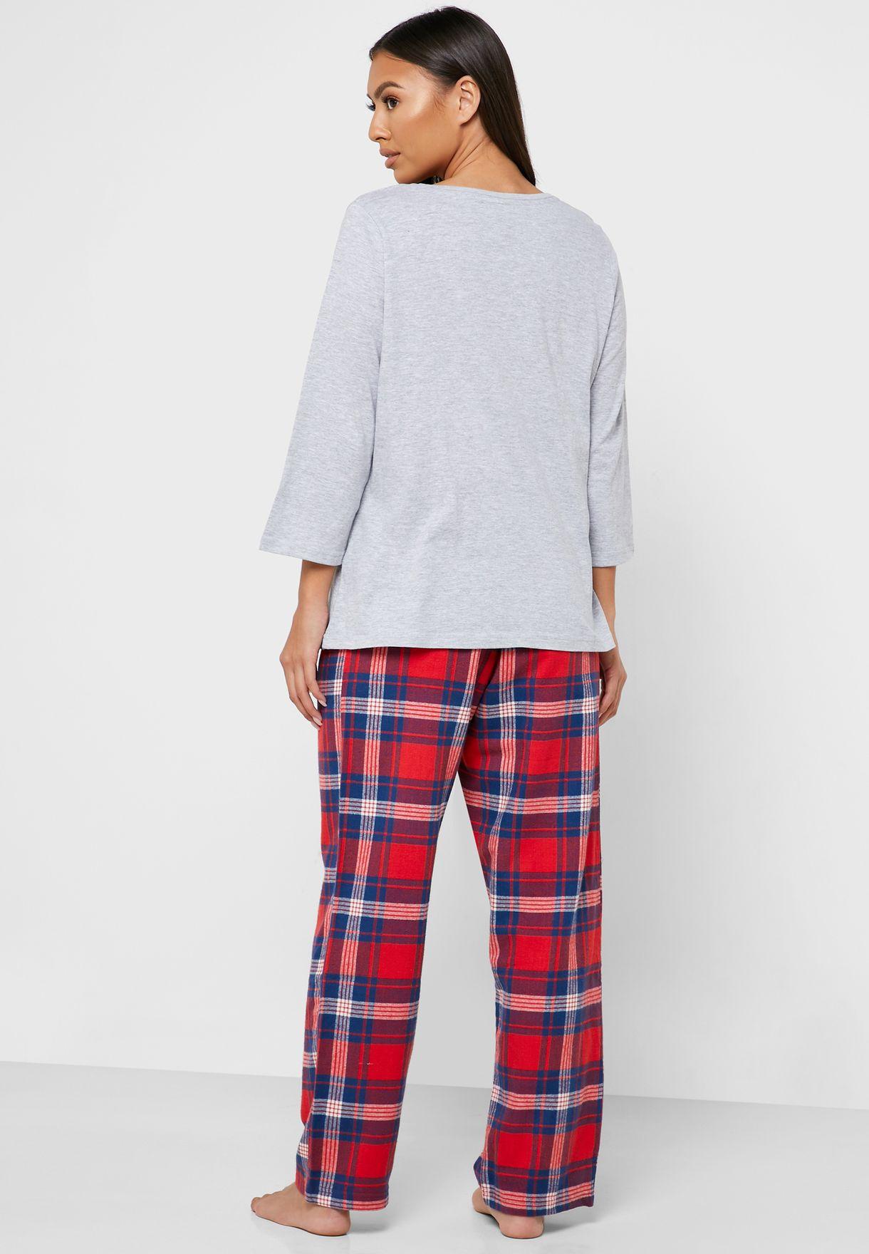 Dog Print T-Shirt & Pyjama Set