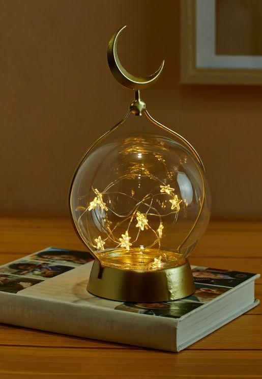 مصباح طاولة مزين بنجوم وقمر