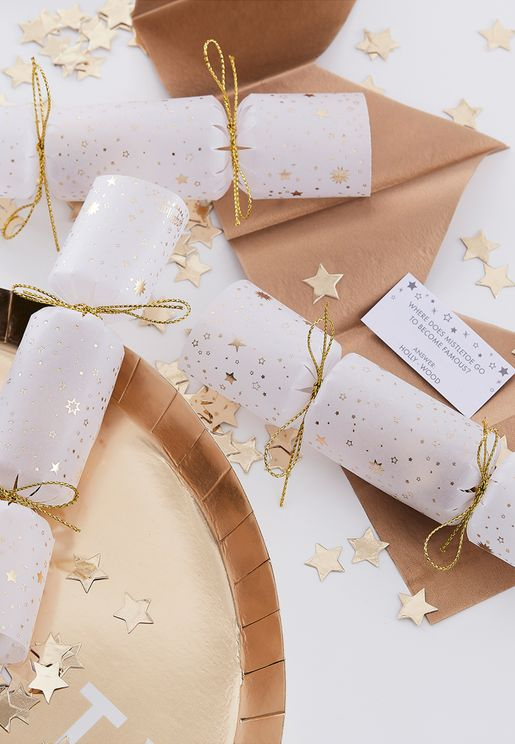 6 Pack Confetti Filled Crackers Set