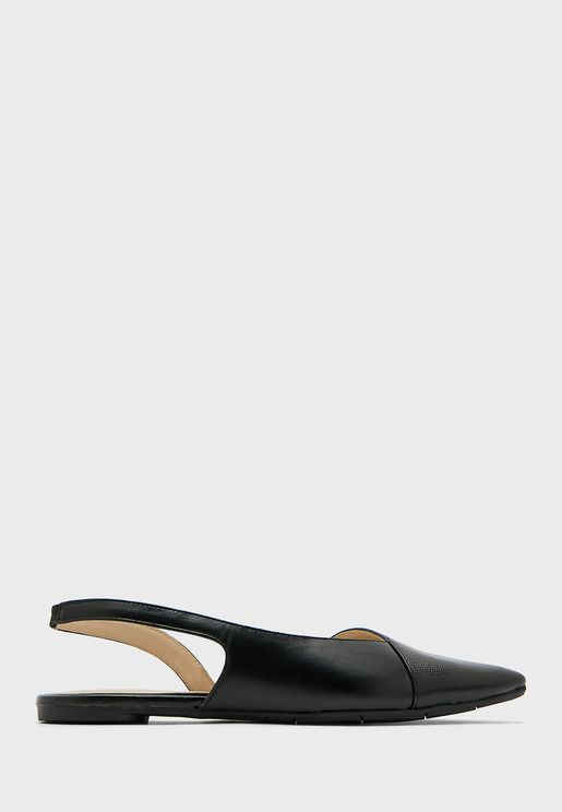 Backstrap Pointed Flat Sandals