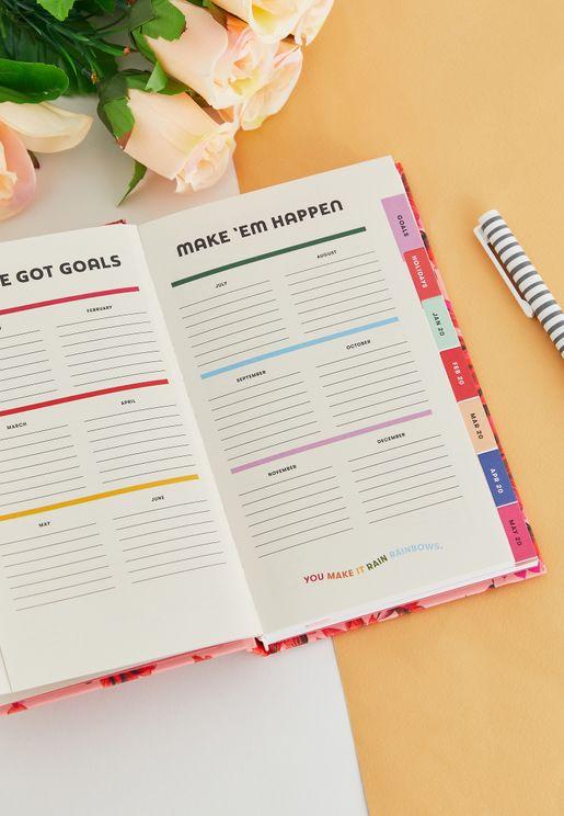 دفتر تخطيط كلاسيكي مطبع- 12 شهر