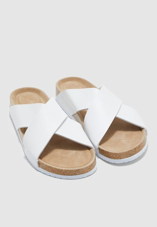 1fe032a415eab Cross Strap Sandals