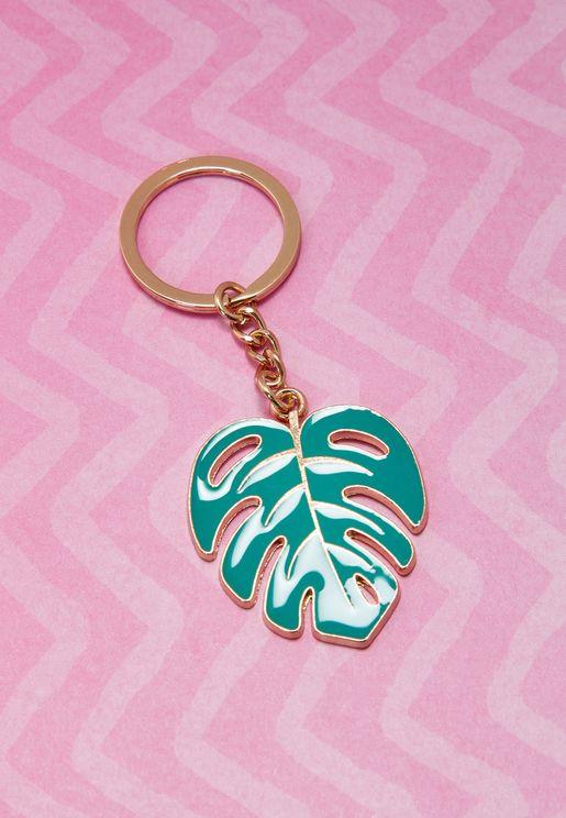 Palm Leaf Enamel Keyring
