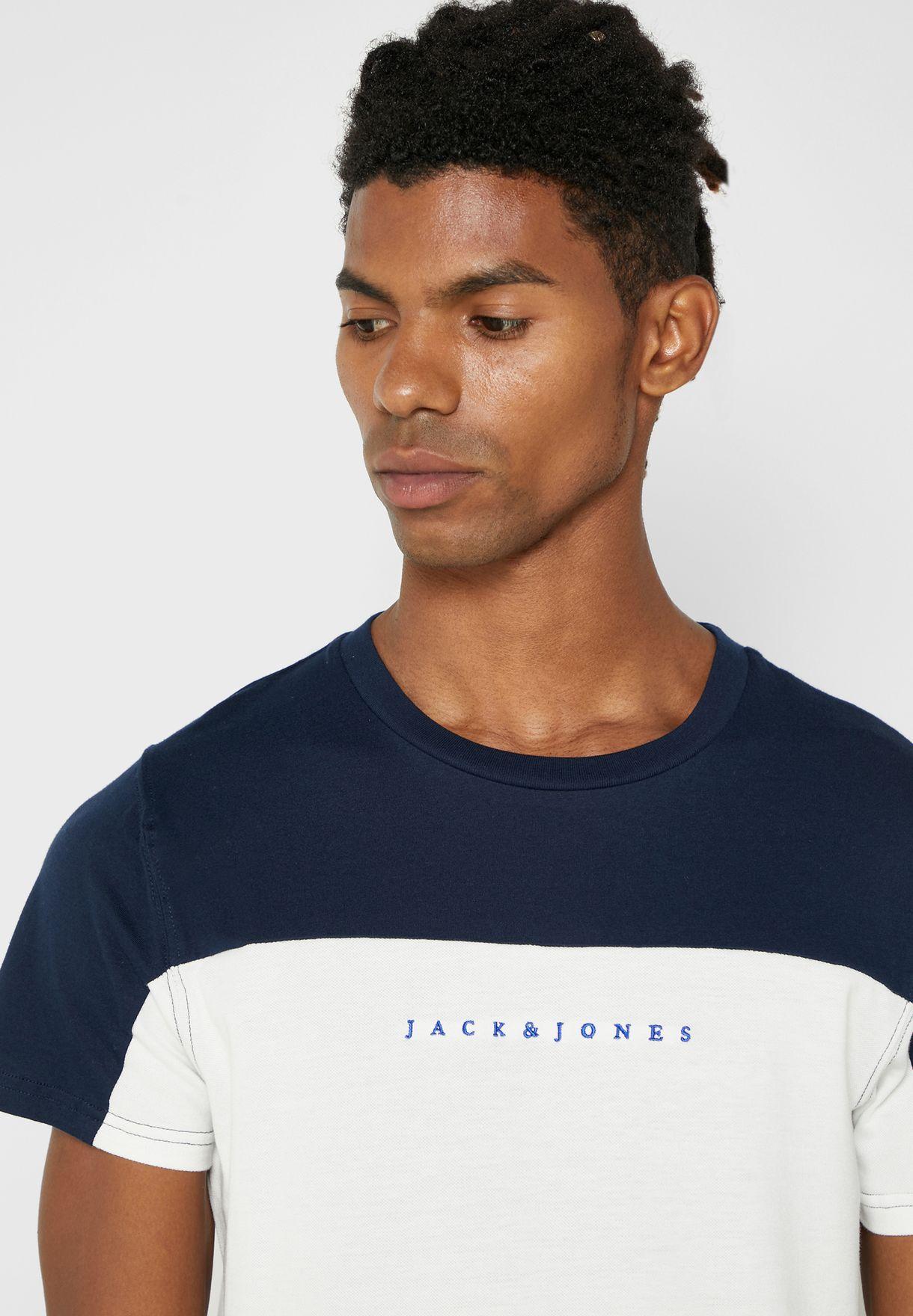 Color Block Regular Fit Crew Neck T-Shirt