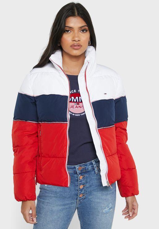 Puffer Colorblock Jacket