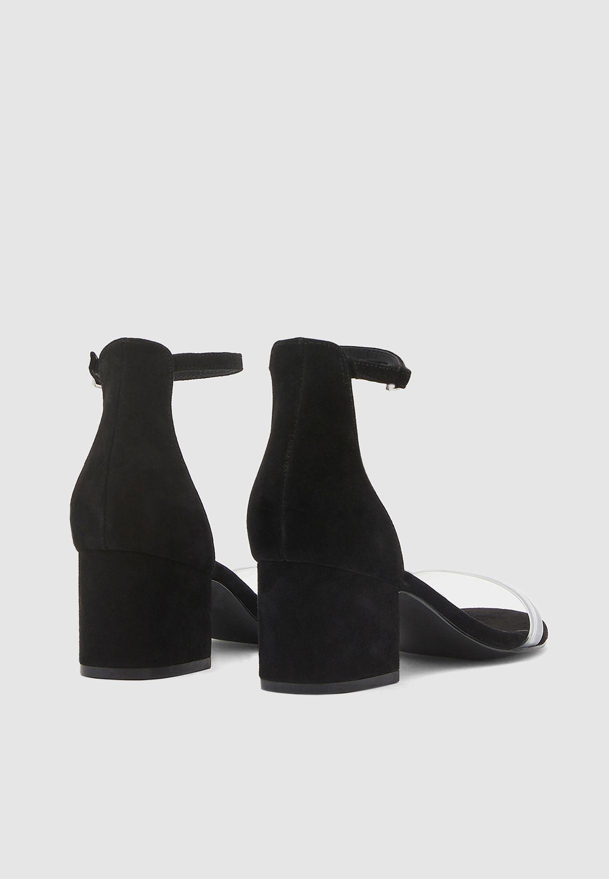 Idy Ankle Strap Sandal - Black