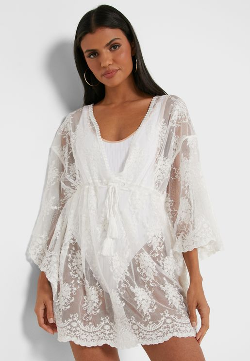 Lace Detail Tunic Top