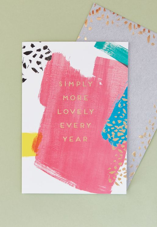 Simply More Lovely Every Year Card