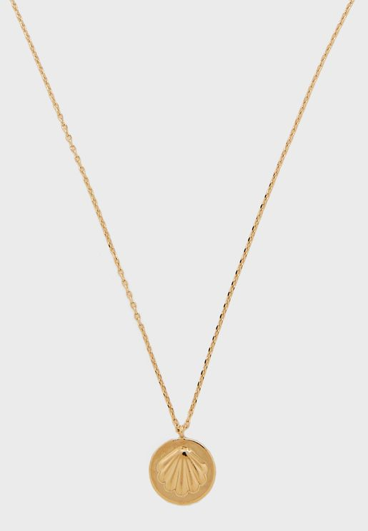 Sunkissed Shell Disc Necklace