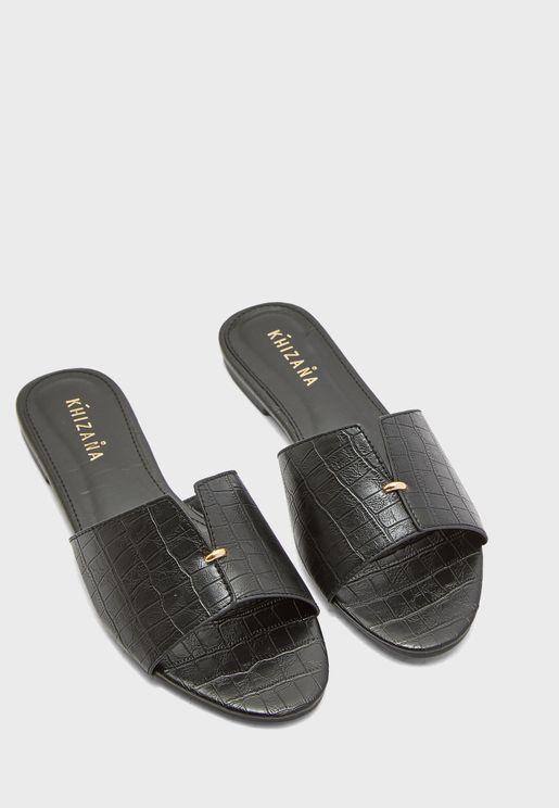 Croc Slide On Sandals