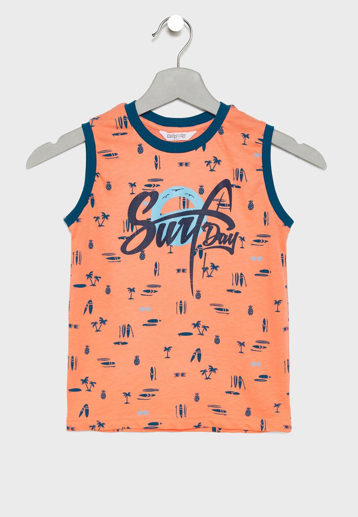 Little Printed Vest + Shorts Set