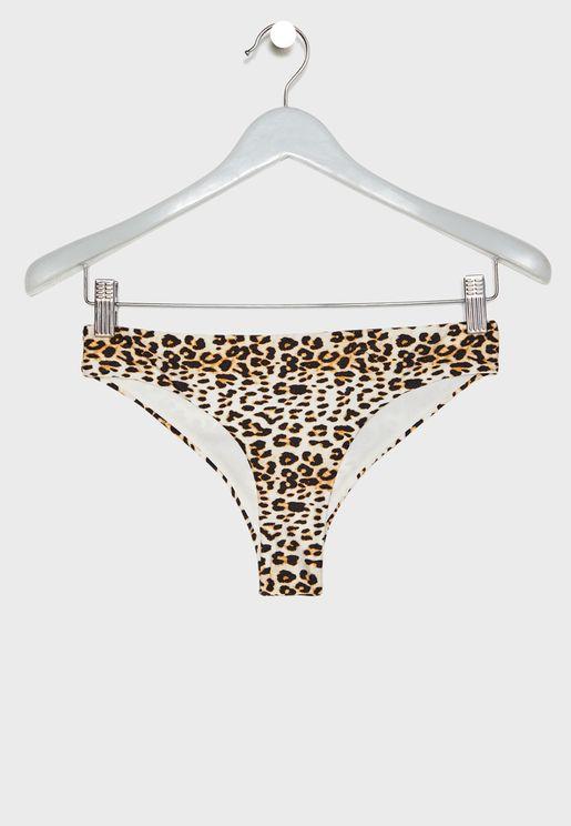 Sierra Bandeau Printed Bikini Bottom