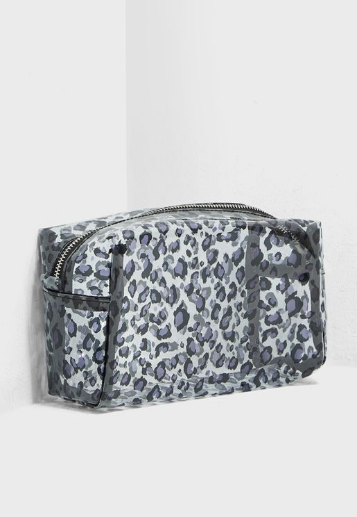 Leopard Print Cosmetic Bag
