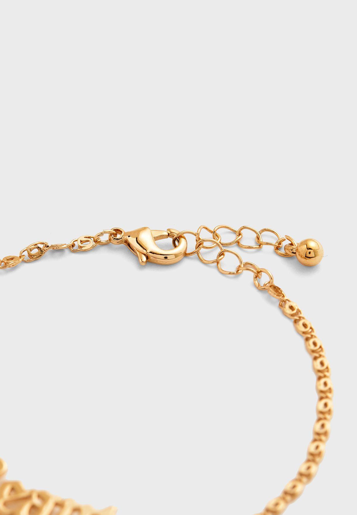Beauty Pendant Chain Bracelet