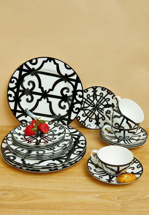 20 Piece Printed Dinnerware Set