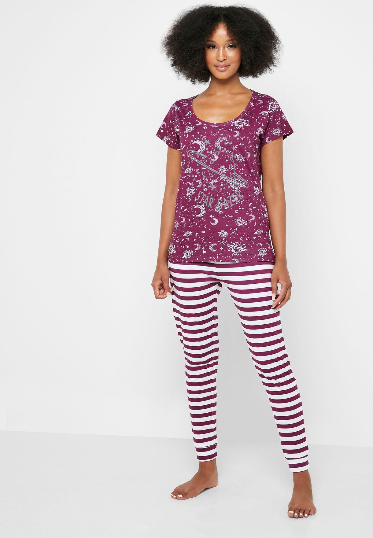 Star Gazer Print Pyjama Set