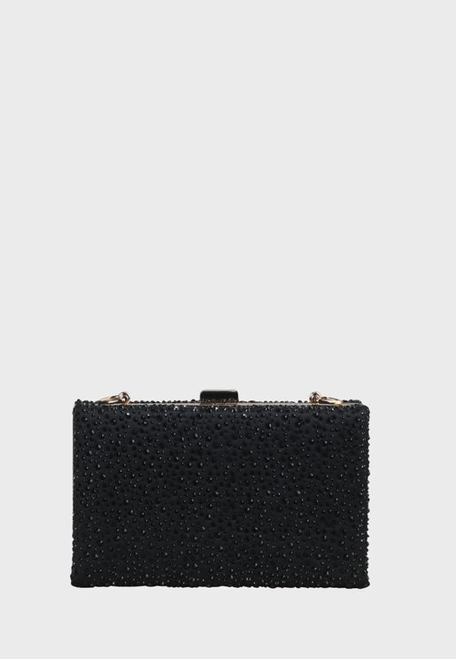 Kylie Push Lock Chain Detail Clutch