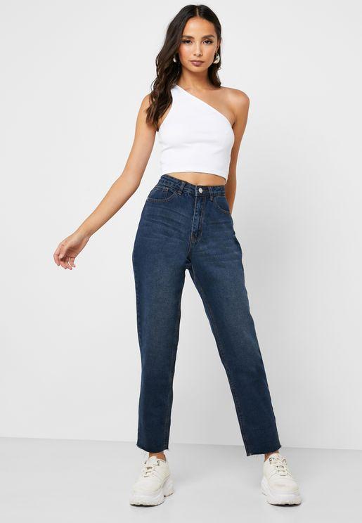 Riot High Waist Mom Jeans