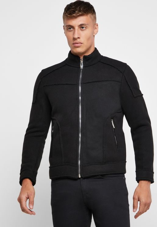 Zip Up Wool Jacket