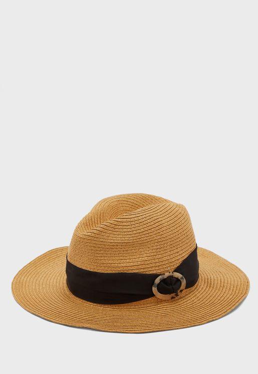 Tort Trim Fedora Hat