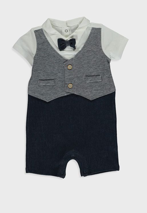 Infant Button Down Shirt + Shorts Set