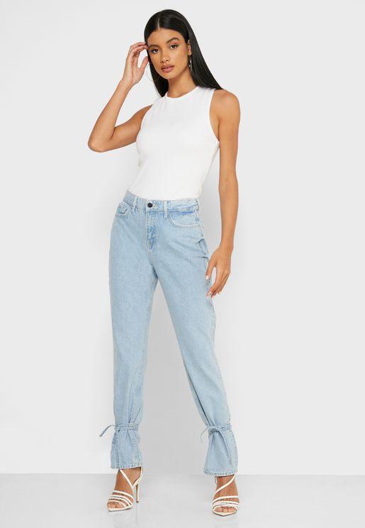 Tie Hem Sienna Skinny Jeans